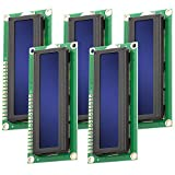 AZDelivery 5 x HD44780 1602 Modulo Display LCD 2x16 Caratteri con Sfondo Blu e Caratteri Bianchi compatibile con Raspberry Pi incluso un E-Book!