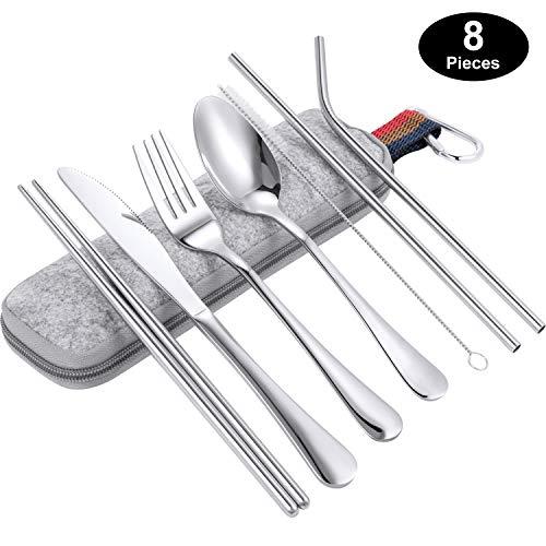 include mestolo ShirazO Utensils Kitchen Cooking forchetta spaghetti cucchiaio spatola Set di 6 utensili di alta qualit/à su supporto rotante nero//cromato