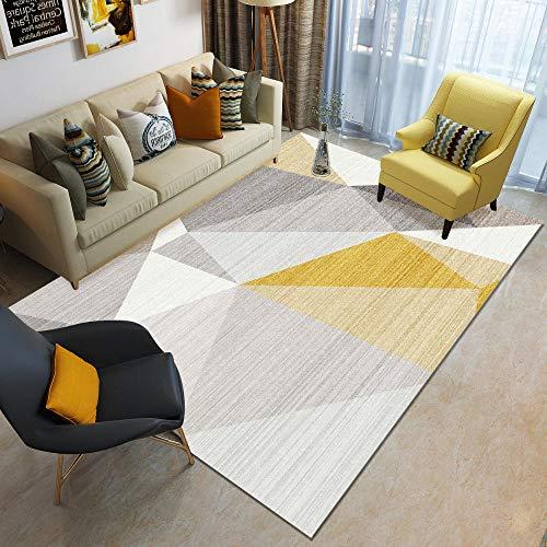 HXJHWB Alfombra de salón de pelo no se desprende – sofá mesa de café simple geométrica abstracta alfombra interior moderna impresión 3D – 120 cm x 160 cm