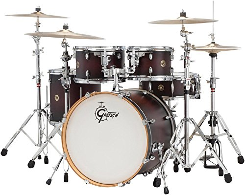 Gretsch Drums Catalina Maple CM1-E605-SDCB 5-Piece Drum Shell Pack, Satin Deep Cherry Burst