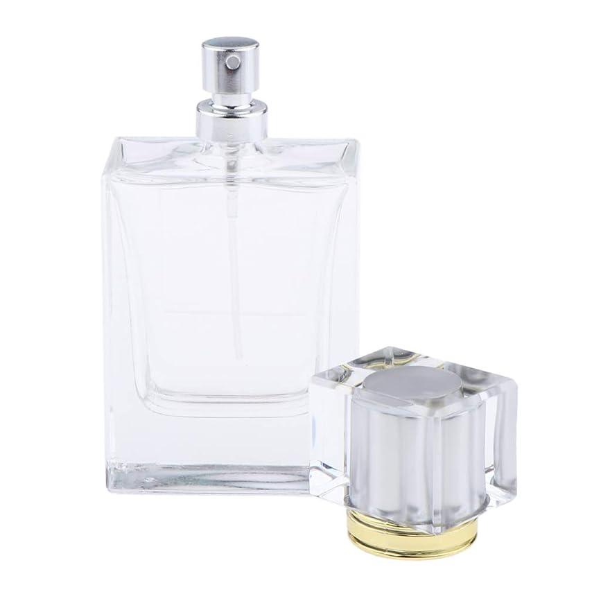 B Blesiya 香水瓶 化粧ボトル ガラスボトル コスメ 化粧品 詰替え容器 4色選べ - シルバー