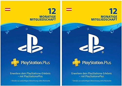 PlayStation Plus Mitgliedschaft | 24 Monate | PS4 Download Code - österreichisches Konto - 12 + 12 Monate Edition | PS4 Download Code - österreichisches Konto