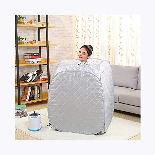HYQW Infrarot Sauna Tragbare Personal Spa Trockene Sauna Mini Infrarotkabine Entgiftung Abnehmen,Grey