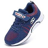 Zapatillas de Deporte para Niños Zapatillas de Correr Zapatos para Caminar al Aire Libre(H7-Azul 28EU)