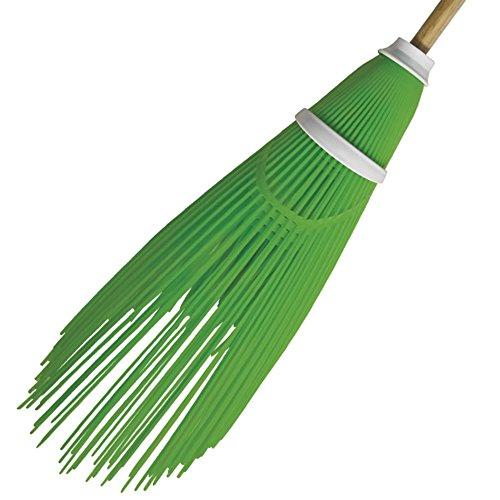 VERDELOOK PVC bezem voor buiten, hoogte 60 cm, groen, voor het reinigen van tuin en buiten