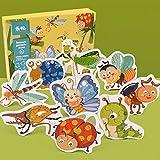 DishyKooker Puzzle educativo de madera para niños, bebés, niñas, niños, para aprender a cognición, juguete familiar para fiestas