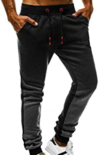 Men's Sweatpants, REYO Mens Fashion Autumn Casual Joggers Solid Color Drawstring Sweatpants Trousers