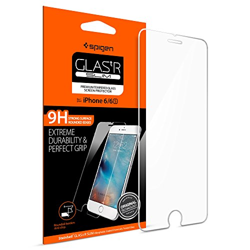 Spigen Vetro Temperato Compatible con iPhone 6S / 6, proteggischermo trasparente, Pellicola iPhone 6S / 6, protezione per schermo (SGP11588)