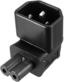 uxcell® AC125V~AC250V 10A IEC320 Male C14 to Female C7 Power Socket Adapter