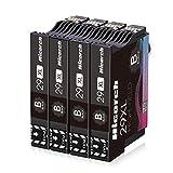 Hicorch 29XL Negro para Epson 29 Cartuchos de Tinta Compatible con Epson Expression Home XP-235 XP-245 XP-247 XP-255 XP-342 XP-332 XP-335 XP-345 XP-432 XP-435 XP-442 (4-Pack)