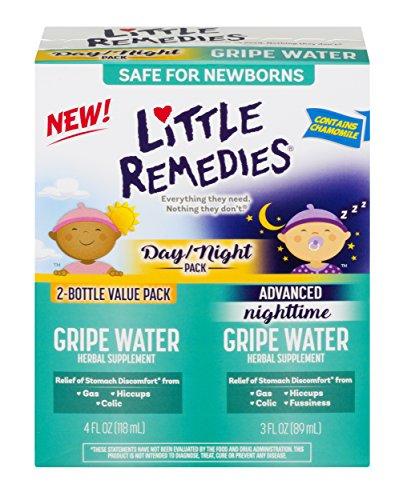 Little Remedies Gripe Water Pack; Day, 4 fl oz & Nighttime, 3 fl oz, Safe for Newborns, 2 Pack