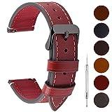 Fullmosa 6 Couleurs Bracelet de Montre en Cuir à l'huile, 14mm 16mm 18mm 20mm 22mm 24mm Bracelet...