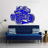 Ajcwhml Tatuajes de Pared camión Vinilo Racing Sticker Art Mural House Living Room Garage Interior Desmontable Home Poster Decoration 32X42CM