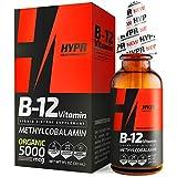 HYPR Vitamin B12 Sublingual Liquid Drops - 5000 MCG Supplement with Methylcobalamin (Methyl B-12) - Max Absorption B 12 to Increase Energy & Metabolism - Vegan Friendly - 1 fl oz