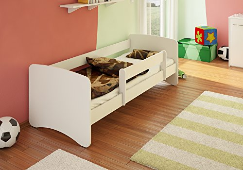 BEST FOR KIDS-Lit pour enfants 90x180 avec une protection roulante et deux tiroirs 44 design