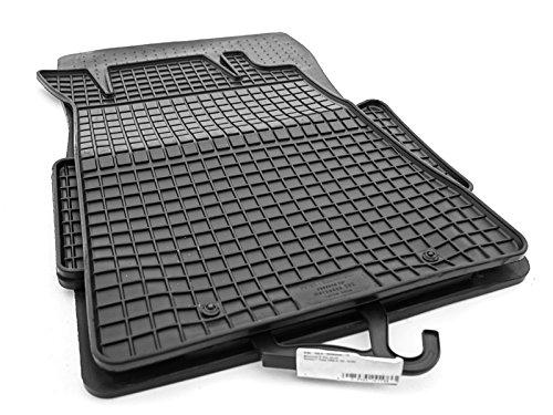 Gummimatten Set Fußmatten (4-teilig schwarz)