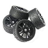 powerday 4pcs 17 mm Hub rueda llanta y neumáticos neumáticos para 1/8 Off-Road RC Buggy de coche...