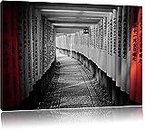 schöner Gebetsgang Japan schwarz/weiß Format: 80x60 auf