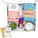 UnboxMe Care Package For Women   Get Well Soon Gift Feel Better Soon   Stress Relief Gift Self Care Encouragement Gift Nurse Gift Bff Gift, Cancer Gift, Happy Birthday Gift (Social Distance Hugs Card)