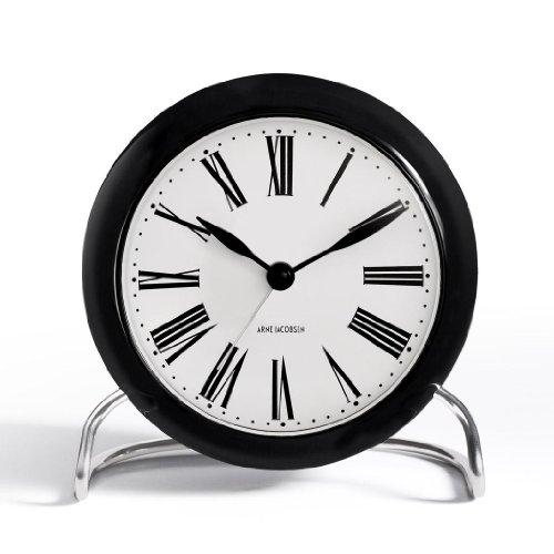 Rosendahl Design Group Roman - Horloge de table, noir et blanc Taille 1 HxØ:12x11cm