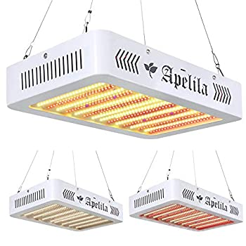 3400W LED Grow Light with Veg&Bloom Switch LED Plant Grow Lamp Full Spectrum with 3500K White LEDs and 660nm Full Red LEDs for Indoor Plants Veg and Flower