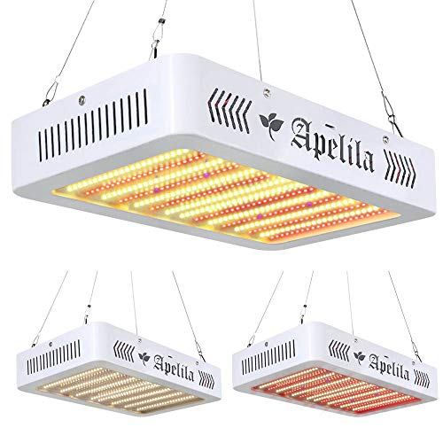 3400W LED Grow Light with Veg&Bloom Switch, LED Plant Grow Lamp Full Spectrum with 3500K White LEDs and 660nm Full Red LEDs for Indoor Plants Veg and Flower