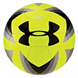 Under Armour Desafio 395 Soccer Ball, Risk Red/Silver, Size 5