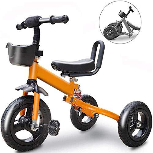 Pkfinrd Bike Kids driewielers Kids Fiets Opvouwbare driewieler Kid Enkel Fiets Uitgaan voor Draagbare en Veiligheid Vouwen Geschikt voor 1/3/6 Jaar Oude KidsCar