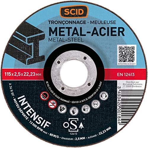Disques à tronçonner SCID - Matériaux - Diamètre 230 mm - Alésage 22,2 mm