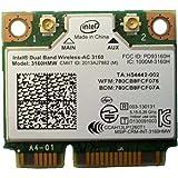 Intel Wireless-AC 3160 Carte Wi-FI Double Bande Antennes 1x1 AC + BT HMC
