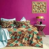 Juego de Fundas de edredón Funda de edredón de celosía árabe Vintage Color magnífico