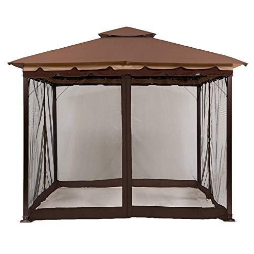 MASTERCANOPY Gazebo Mosquito Netting Screen Walls for 10' x 12' or 11'x 14' Gazebo Canopy (Only Screen Wall)