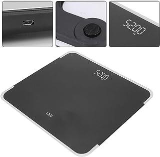 Báscula digital, pantalla LED Báscula Carga USB de alta precisión Báscula corporal inteligente inalámbrica Básculas de pesaje Indicadores de medición de peso corporal(03)