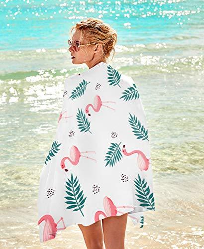 Flamingo Print Rectangular Beach Towel