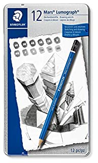 Staedtler Pencil Mars Lumograph, 12 Pieces Set (100 G12) (B0014E2S0Q)   Amazon price tracker / tracking, Amazon price history charts, Amazon price watches, Amazon price drop alerts