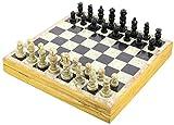 Ajuny Juego de ajedrez artístico de Piedra único bellamente elaborado a Mano Piezas de Piedra talladas a Mano Tamaño del Tablero 12 x 12 Pulgadas
