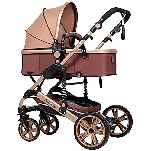 Amazing Deal Gflyme Stroller Stroller, High Landscape 2-in-1 Stroller Can Sit and Fold Two-Way Four-...