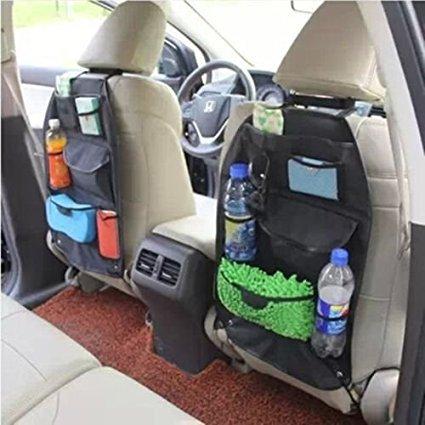 Paire de Noir de voiture auto véhicule Siège arrière Cintre support organiseur Pochette Sac de rangement