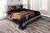 Wyoming 4-teiliges Bettwäsche-Set mit Bettbezug und 2