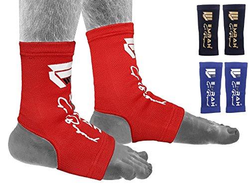 EMRAH Soporte para el pie del Tobillo Tobilleras Brace Pad Calcetín Kickboxing Thai Protector MMA - X