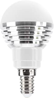 Ichiias Bombilla LED AC85V-265V E27/E14/GU10/GU5.3/B22 6W RGB + CW Luz LED Bombilla Inteligente con Wi-Fi controlado por teléfono Inteligente(E14)