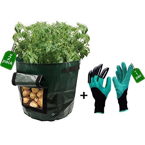 Dreamerd - Confezione da 2 sacchi per terriccio, patate e piante da giardino, capacità 26,5 L