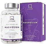 Citrato de Magnesio [ 400 mg por cápsula] Vegano de AAVALABS - Alta Dosis de Magnesio Elemental [ 448 mg por dosis] - 180 cápsulas - Puro - Suministro de 1 mes