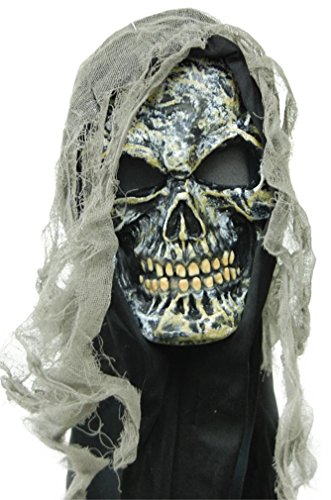 Fun World Men's Gauze Skull Mask, Multi, Standard
