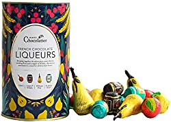 Dark chocolate with alcoholic centres made with premium spirits, this set includes 4 flavours which are Williams Pear, Cherry, St James Rum and Label 5 Whisky. These Chocolate Liqueurs are made in France by Master Chocolatiers, who balance the rich f...