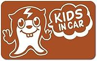 imoninn KIDS in car ステッカー 【マグネットタイプ】 No.64 ピースさん (茶色)