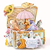 QIAOLI Caja de música para gatos, caja de música giratoria de resina enrollada tallada a mano, el mejor regalo para cumpleaños, Navidad, San Valentín, Harry Potter caja de música (color Cielo Ciudad)