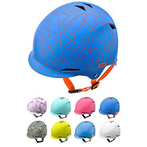 Casco Bicicleta Bebe Helmet Bici Ciclismo para Niño - Cascos para Infantil Bici Helmet para Patinete Ciclismo Montaña BMX Carretera Skate Patines monopatines (M 52-56 cm, Blue)