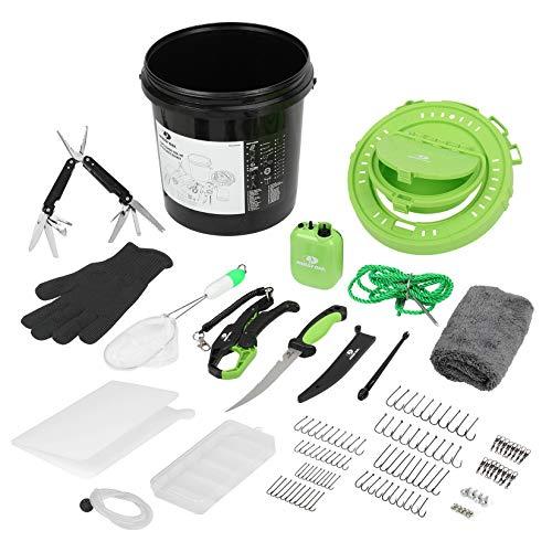 Mossy Oak 126PC Fishing Tool Kit, Fishing Gear with Fishing Pliers, Bait Bucket, Fishing Gifts for Men