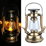 Luz solar de la vela colgante, retro blanco cálido vintage LED luz de vela solar, lámparas colgantes decoración del hogar para el hogar jardín árbol mesa decoración